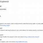 PageSpeed Insight Mobile User Experience